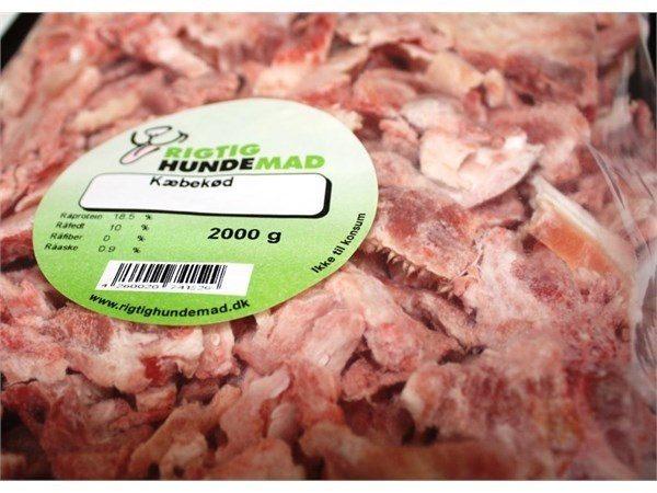 Oksekæbekød 2000g løsfrossent