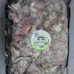Ko-mix, løsfrosset 2kg ,Hele dyr i posen