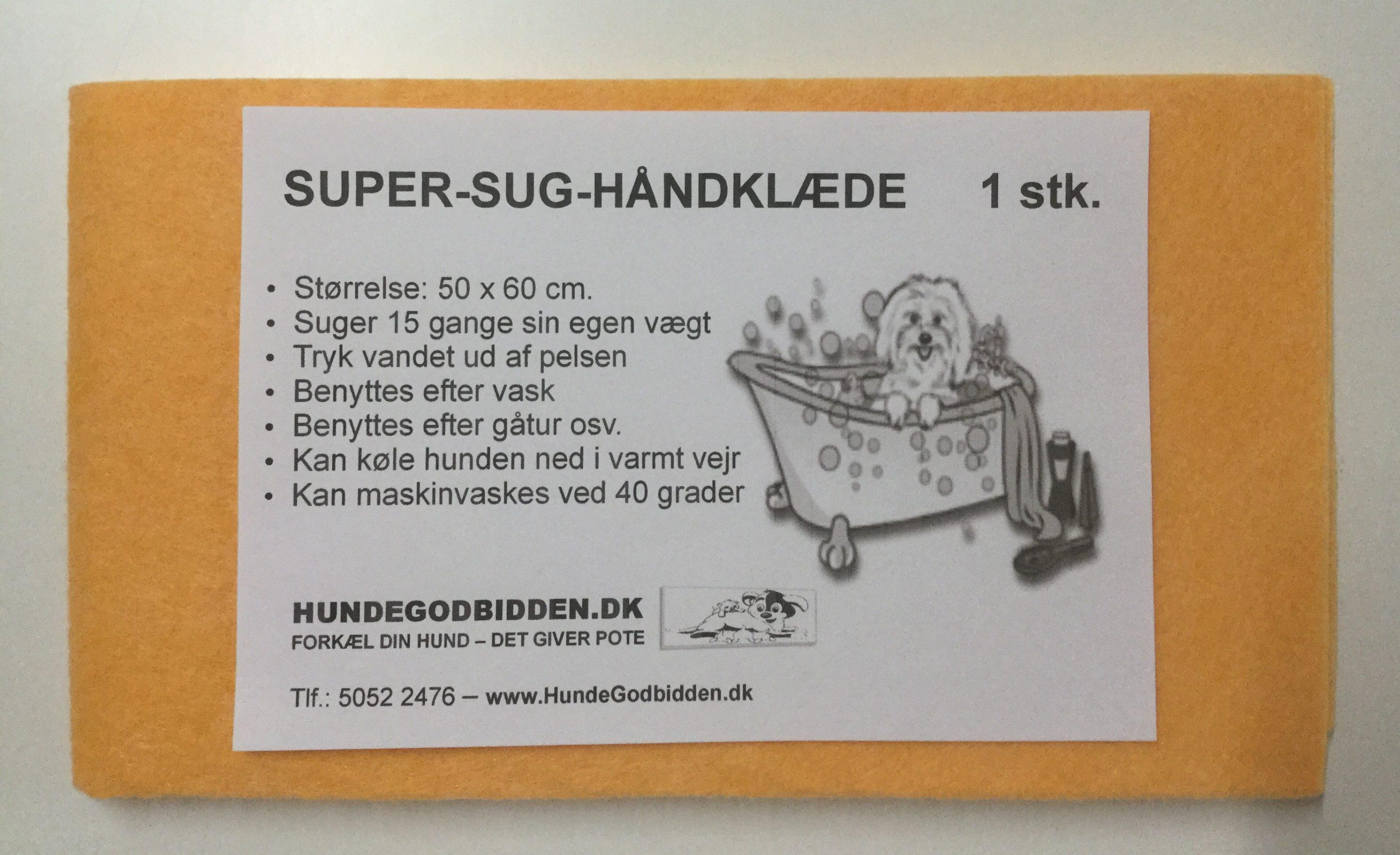 Super absorberende håndklæde 60x50 cm