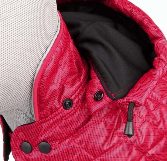 Sila winter frakke, rød