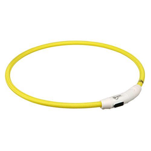 Nylon Lyshalsbånd med USB, ø 7 mm, gul