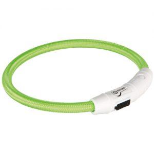 Nylon Lyshalsbånd med USB, ø 7 mm, grøn