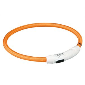 Nylon Lyshalsbånd med USB, ø 7 mm, orange