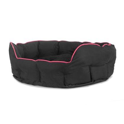 Buddy oval seng - 60x50x22cm, Medium Pink