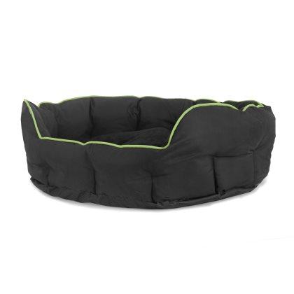 Buddy oval seng - 60x50x22cm, Medium Grøn